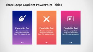 Three Steps Gradient PowerPoint Tables