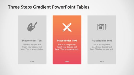3 Steps PowerPoint Gradient Segments