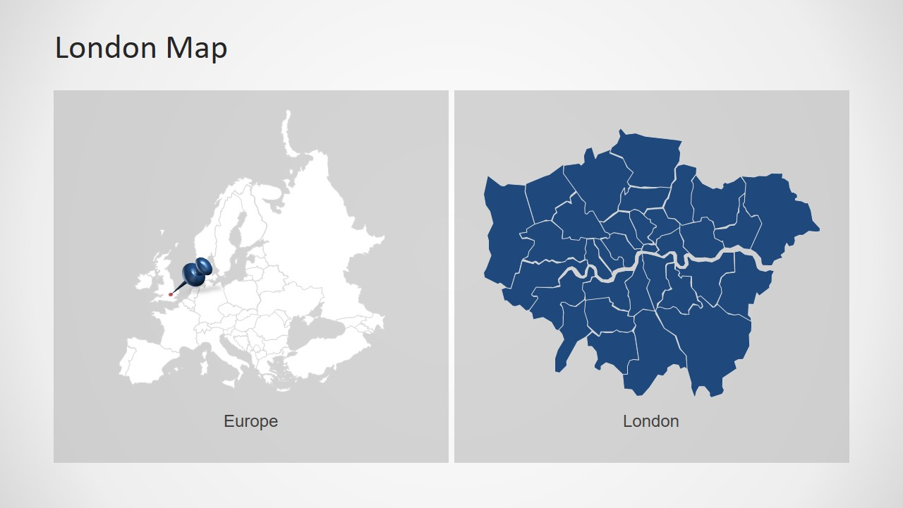 Editable Map Template of Europe