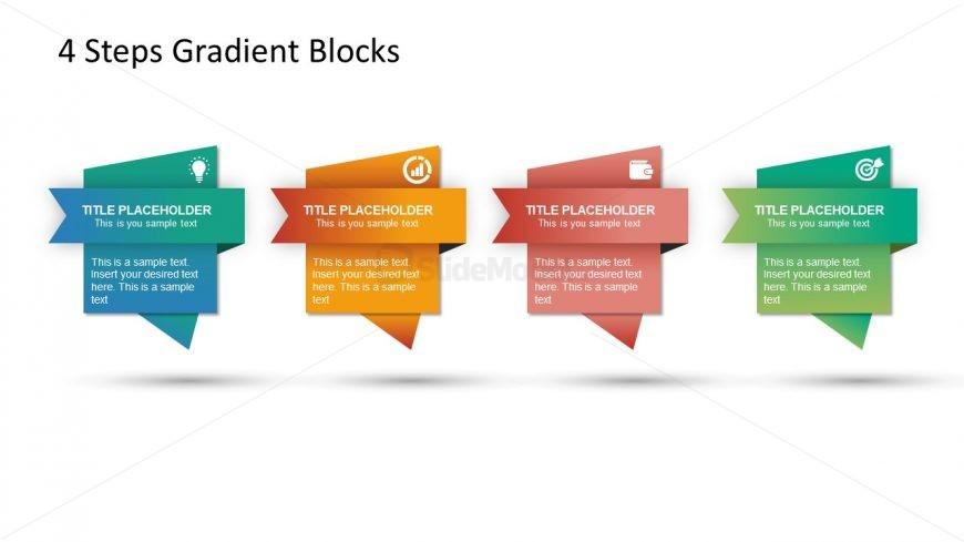 4 Blocks Gradient Diagram Design