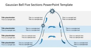 Gaussian Bell Five Sections PowerPoint Template