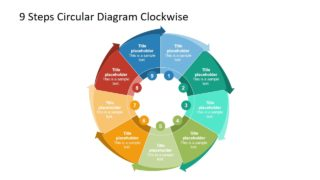 9 Steps Circular Diagram Clockwise