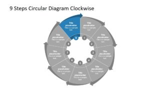 Flat PowerPoint of Process Cycle Diagram