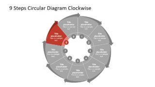 Clockwise Circular Diagram Template