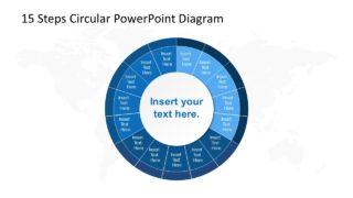 15 Steps Circular PowerPoint Diagram