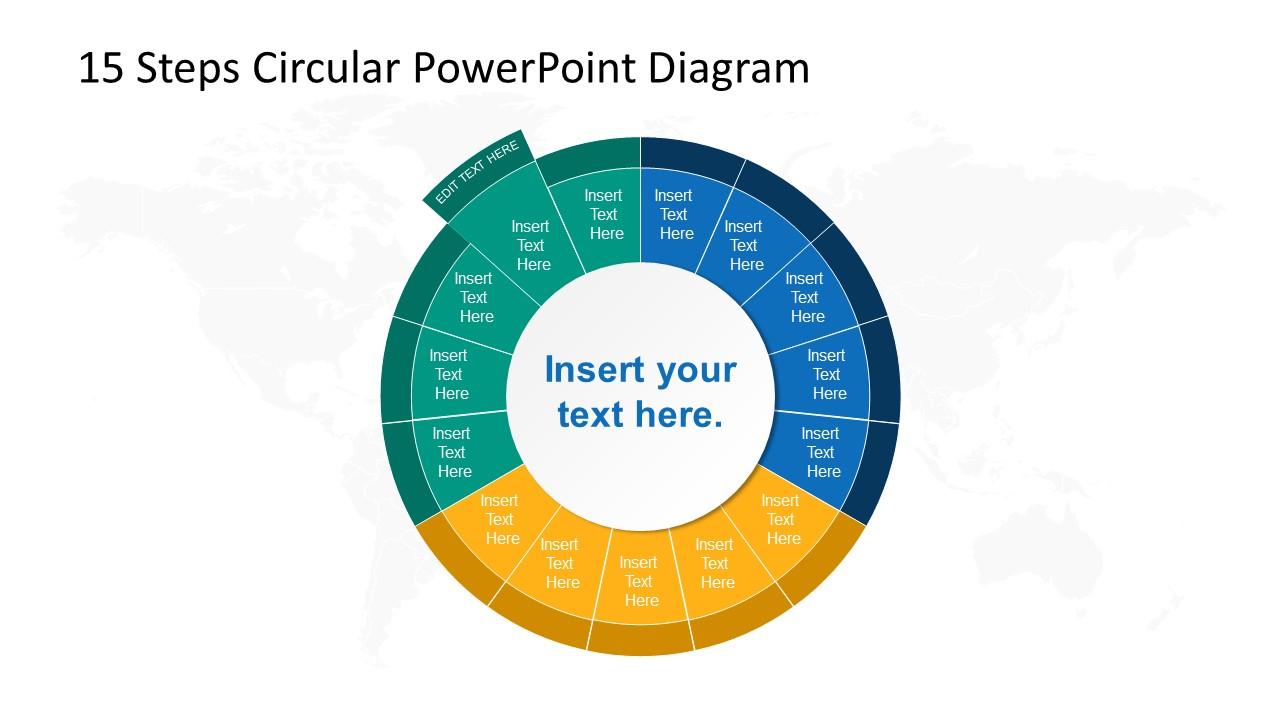 Step 14 Circular PowerPoint Diagram