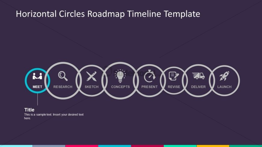 Circular Infographic Business Timeline