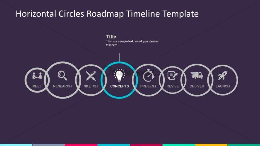 Flat Clipart Horizontal Roadmap