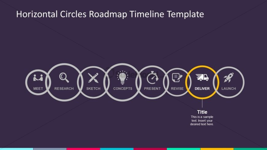 Circular Milestones Timeline PowerPoint