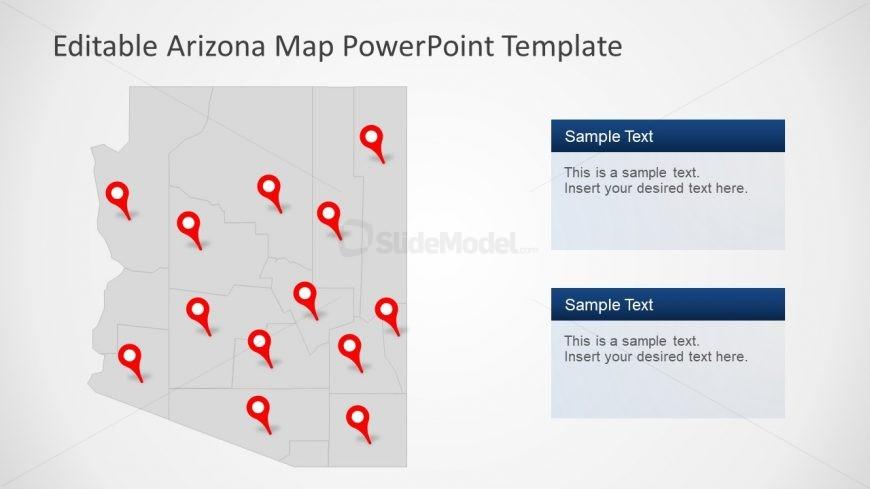 Presentation of Editable Arizona Map