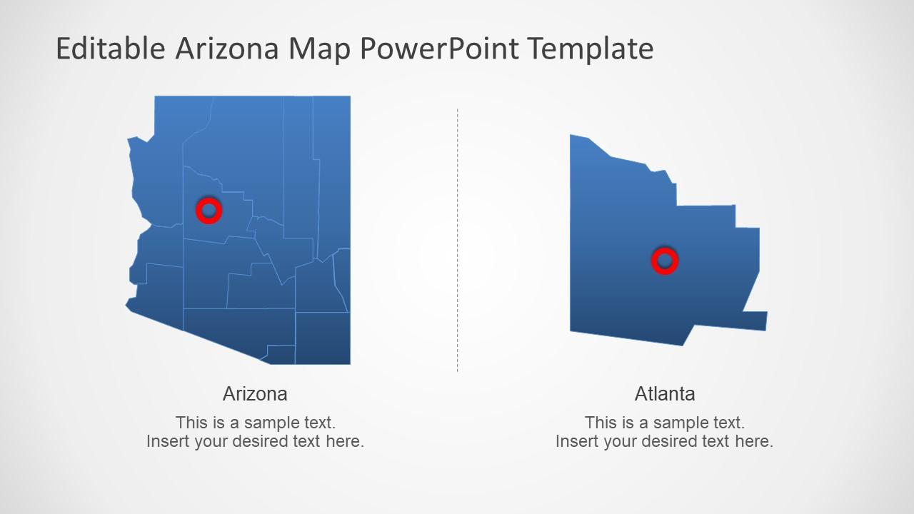 Highlight Atlanta on Arizona Map