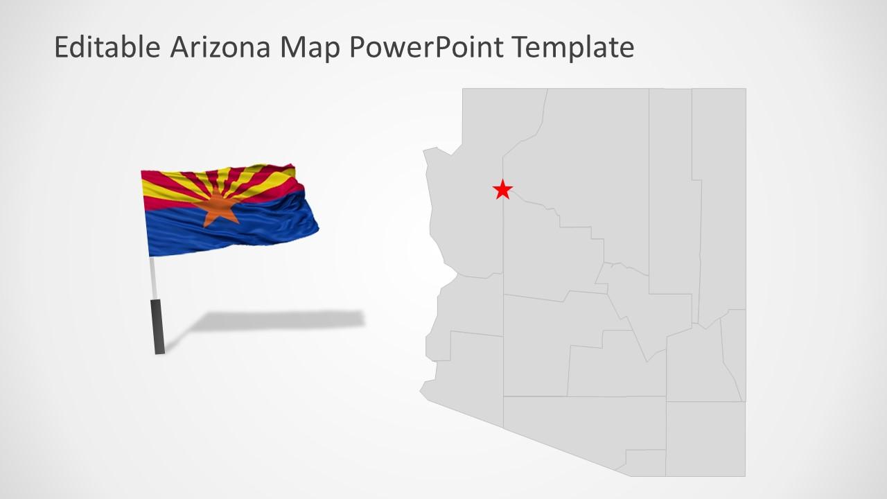 Slide of Editable Arizona Map