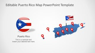 Editable Puerto Rico Map Template for PowerPoint