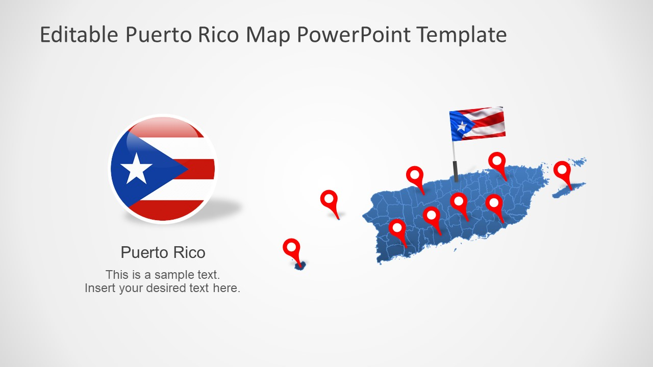 Template of Puerto Rico Maps