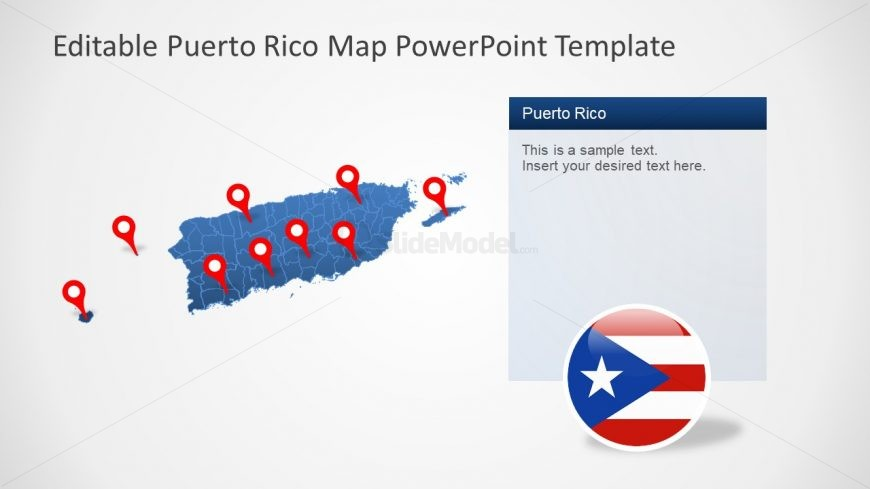 Silhouette Map of Puerto Rico