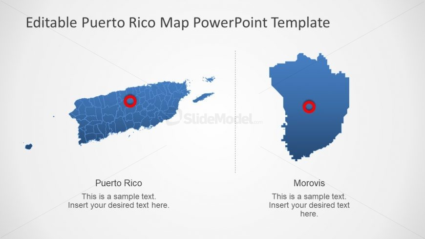 Editable Map of Puerto Rico