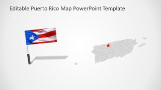 Puerto Rico Template of Map