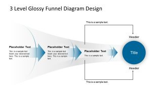3 Level Glossy Funnel Diagram Design