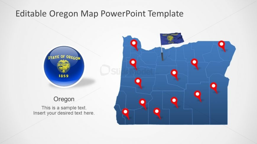 State and County Map Template