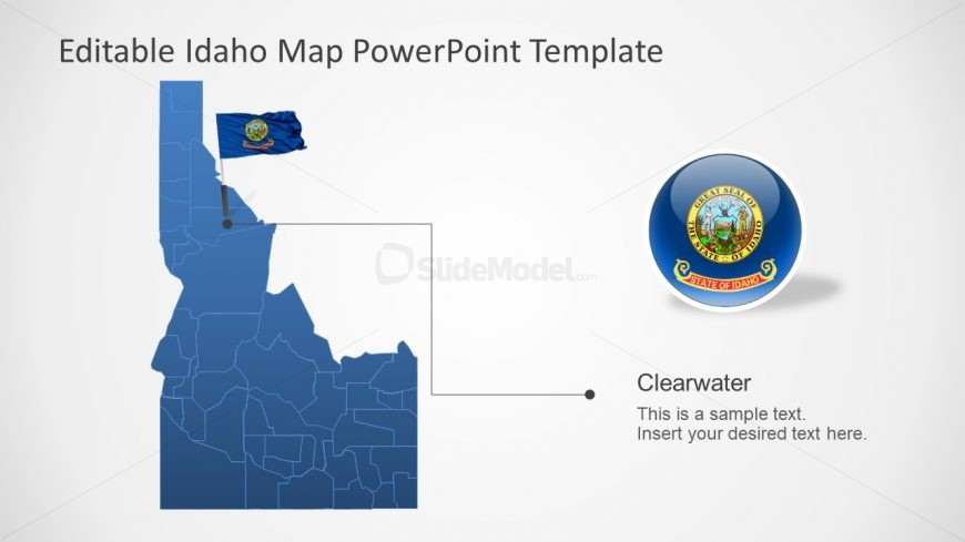 Template of Idaho Silhouette Map