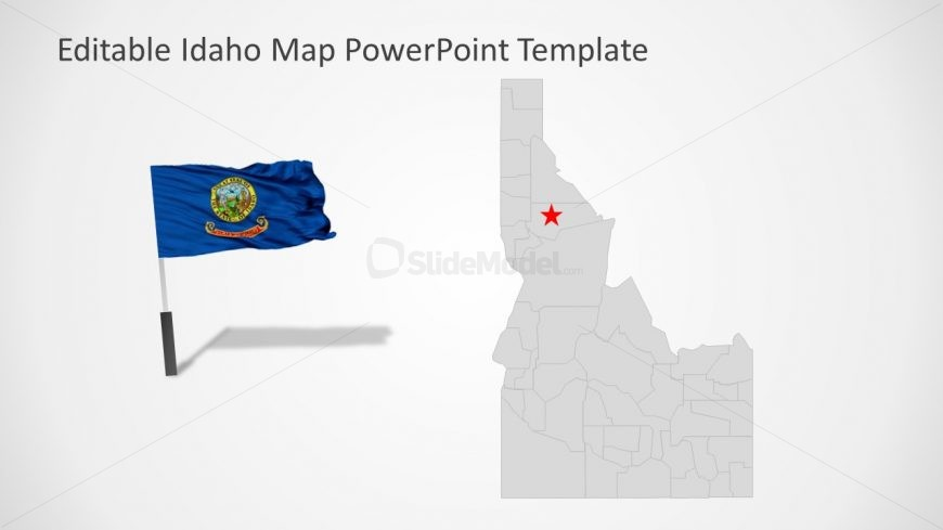 Flag Clipart PowerPoint Map Template
