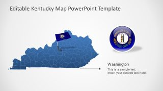 Editable Map of Kentucky US