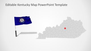 Flag and Map of Kentucky