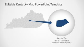 Zoom on Kentucky Counties PowerPoint