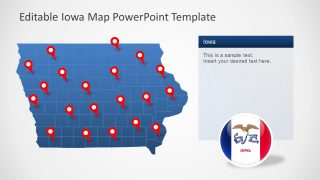 PPT Iowa Map Template Design