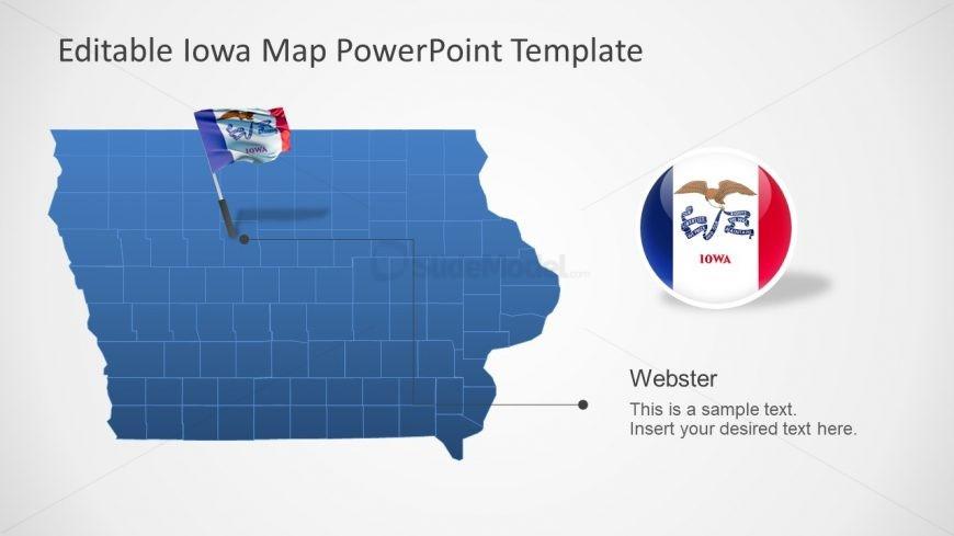 Presentation of Counties Iowa Map