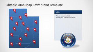 PowerPoint Utah Flat Silhouette