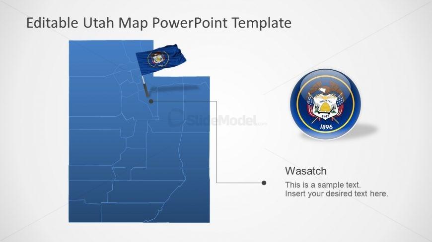 Editable Map of Utah