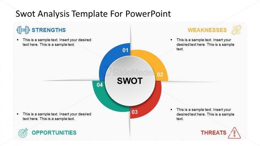 Helix Design Top View PowerPoint