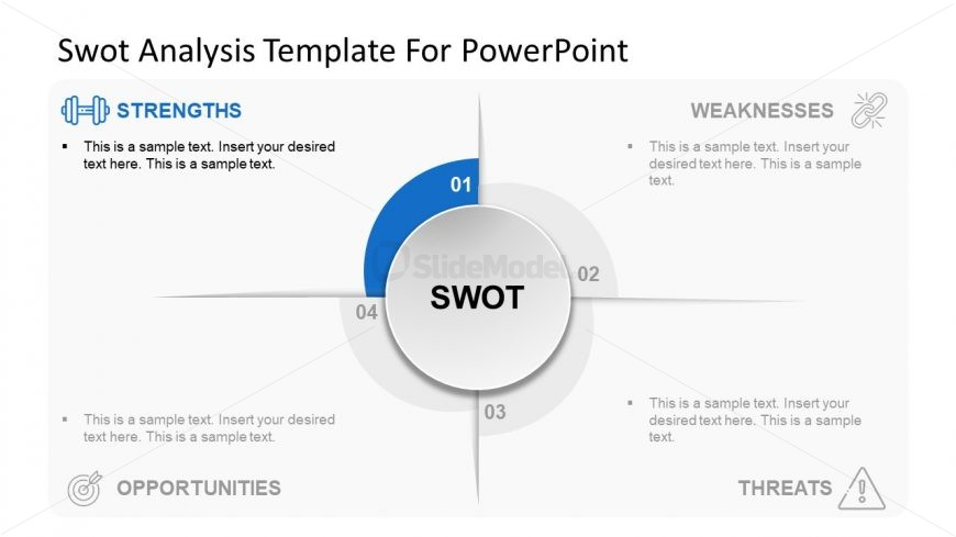 SWOT Analysis Slide of Strengths
