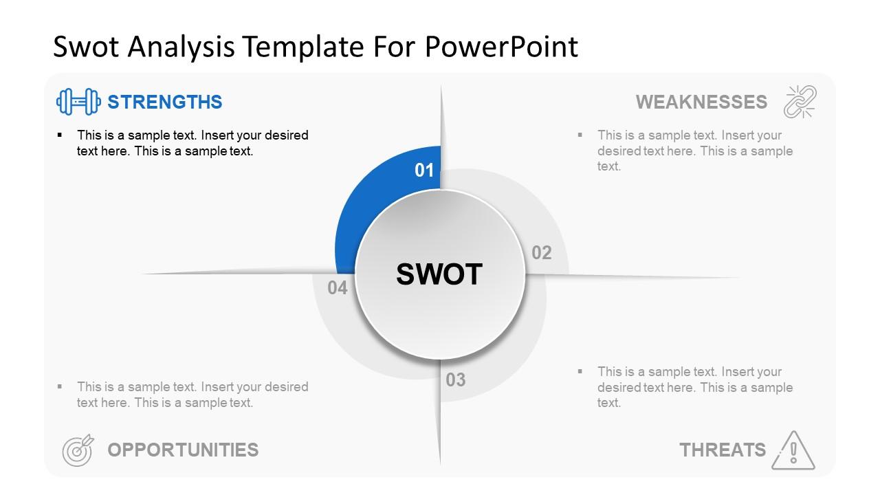 SWOT Analysis Slide of Strengths