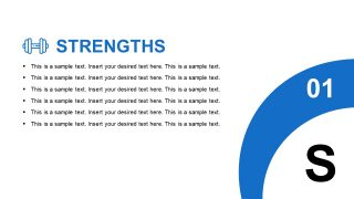 Slide of Business Strengths SWOT