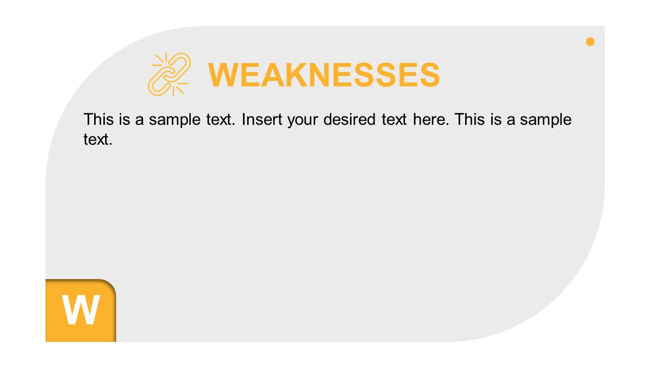 Infographic Editable SWOT Analysis Weaknesses