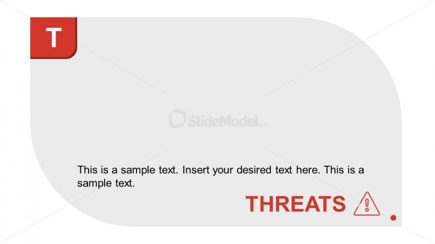 Infographic Editable SWOT Analysis Threats