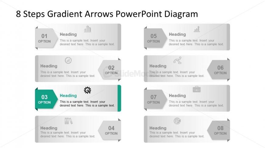 Template of 3 Arrow Highlight Diagram