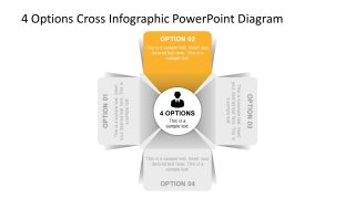 4 Segments Slide of Infographic