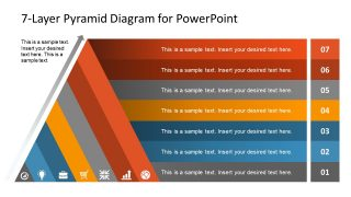 7-Step Pyramid Diagram PowerPoint Template