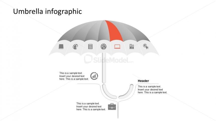 Presentation Diagram of Umbrella PPT