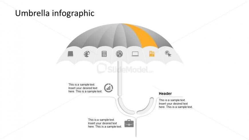 Flat PowerPoint Umbrella Design