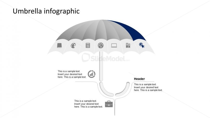 Creative Infographic Clipart for Umbrella