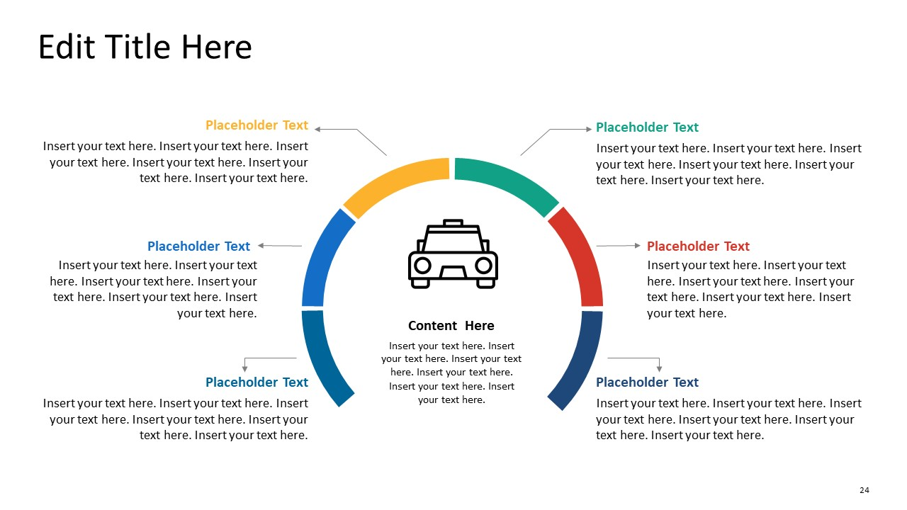 PowerPoint Taxi Themes 6 Steps Curve
