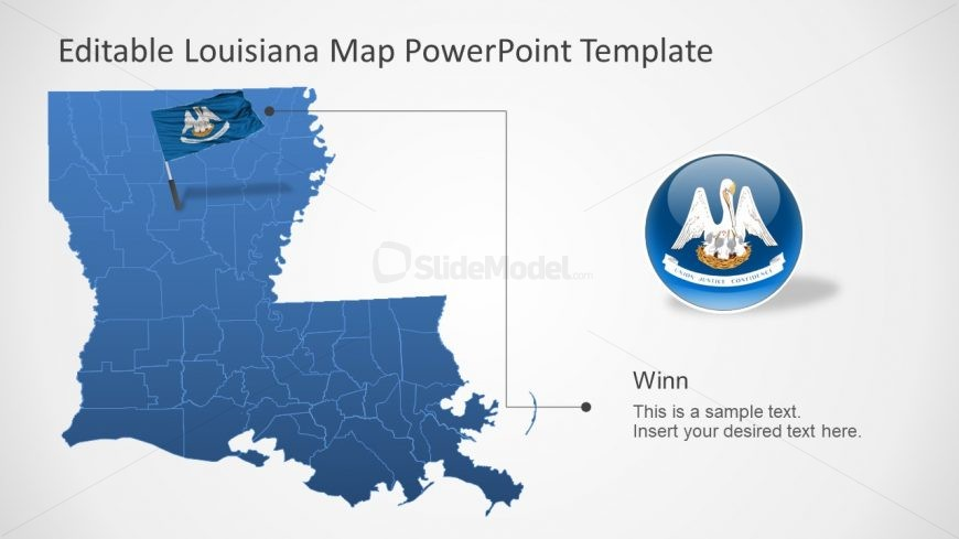 Editable Map Template Louisiana