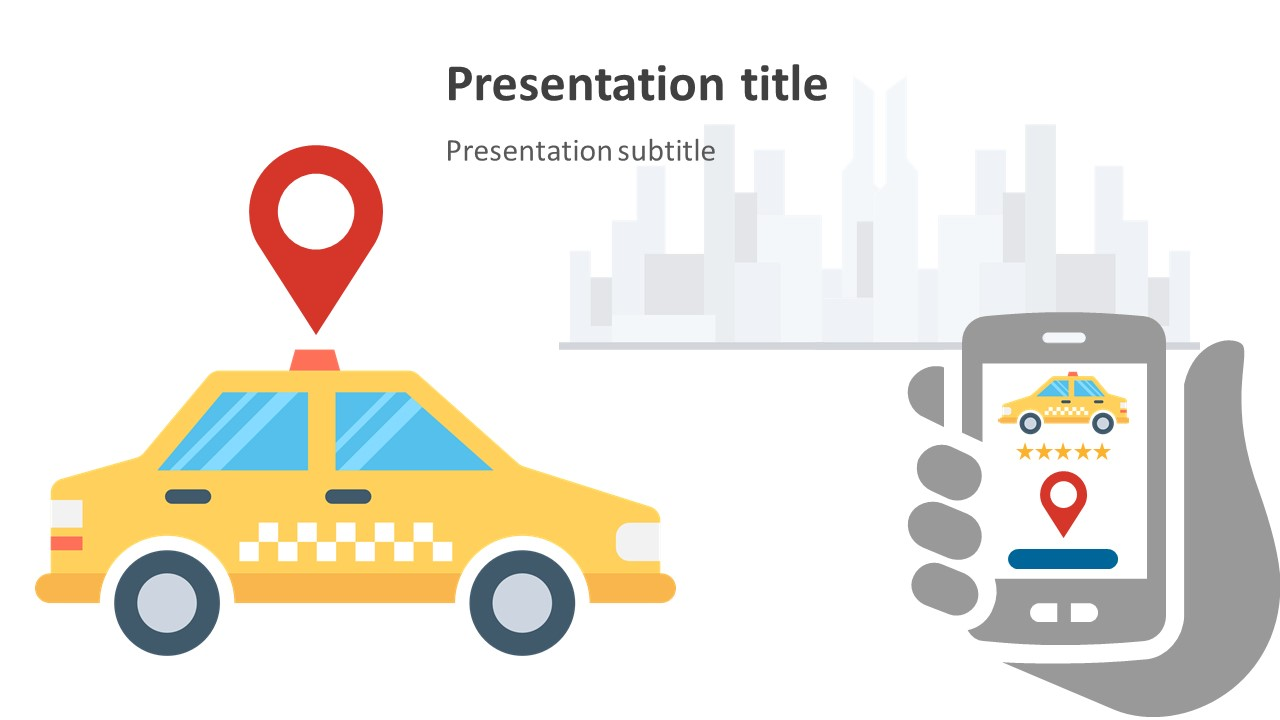 Vector Graphics of Taxi Ride Hailing