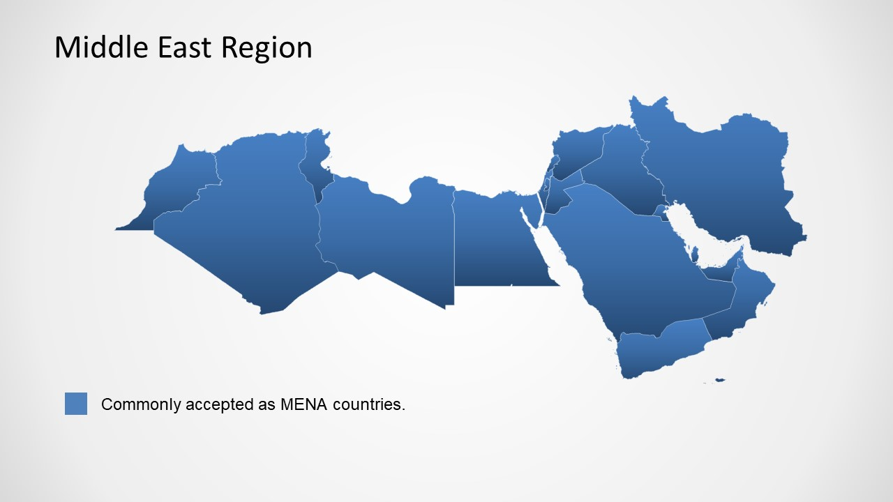 PowerPoint Blue Middle East Map