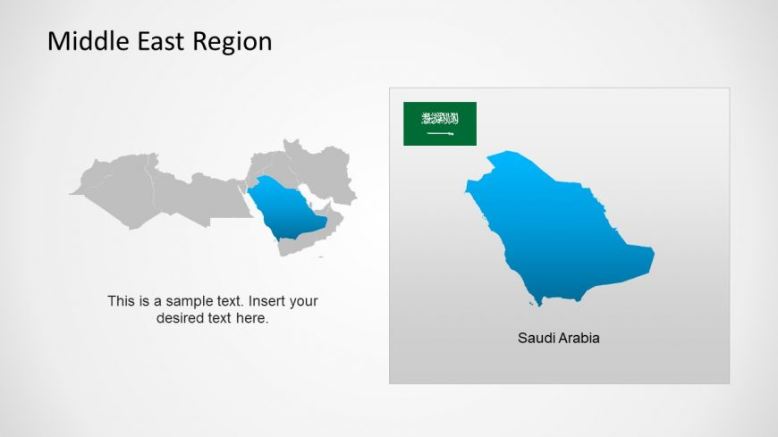 Silhouette Map of Saudi Arabia Middle East