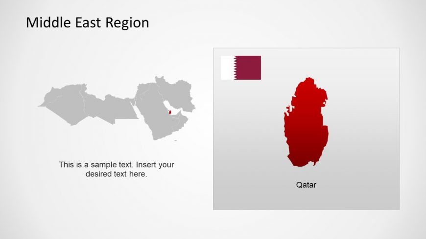 Silhouette Map of Qatar Middle East